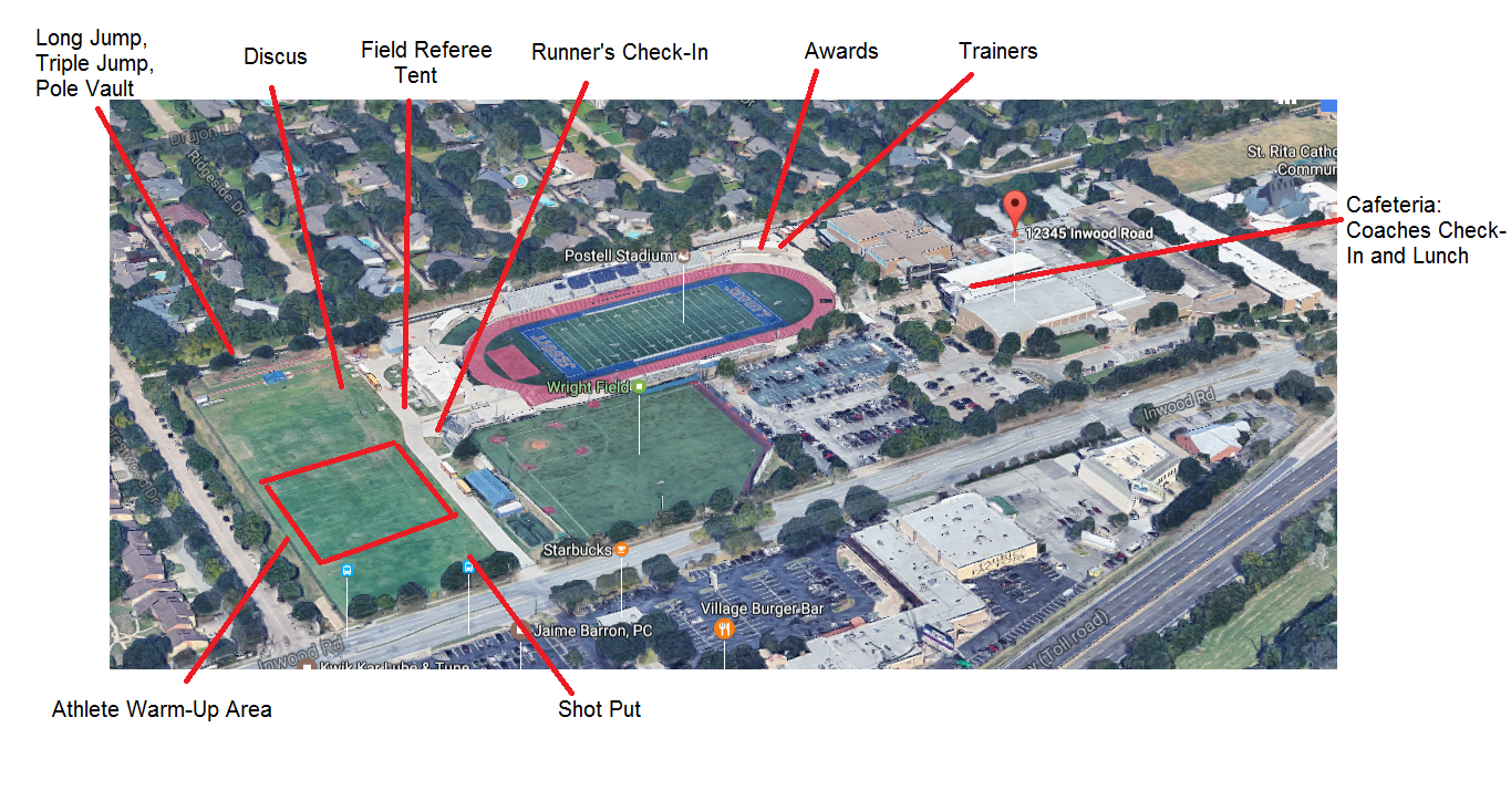 Map of Jesuit Track & Field